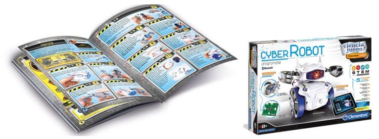 Libro de instrucciones de Cyber Robot, una de las propuestas de robots baratos