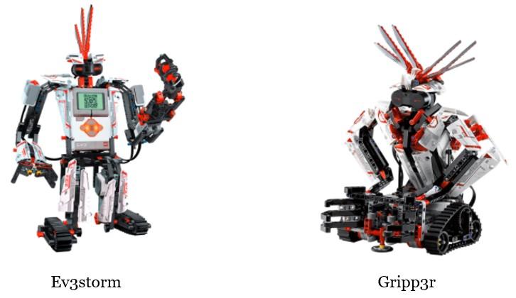 Propuestas de Lego robótica para niños con Ev3storm y Gripp3r, dos de los robots de Mindstorms