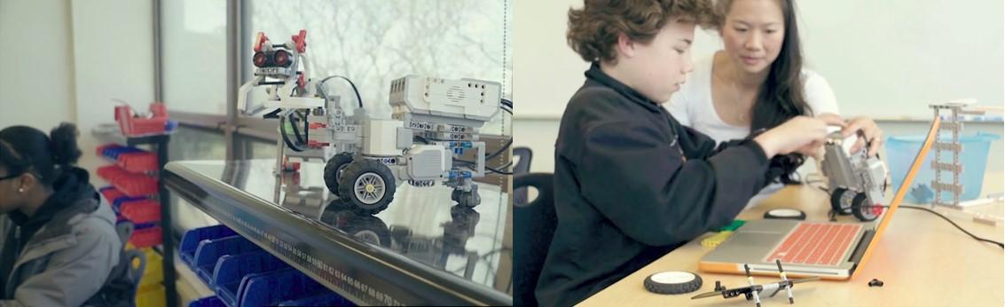 Lego robótica para niños en el aula