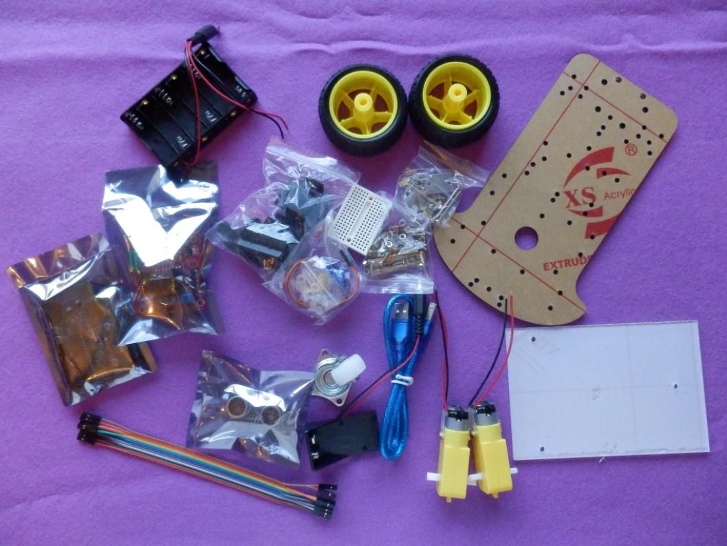 Contenido del kit de montaje Arduino