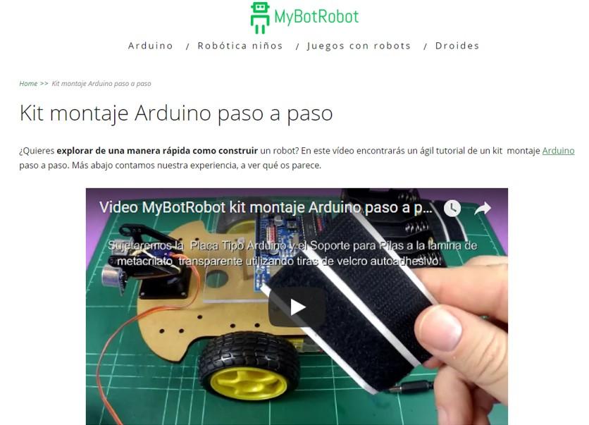 MyBotRobot kit montaje Arduino paso a paso
