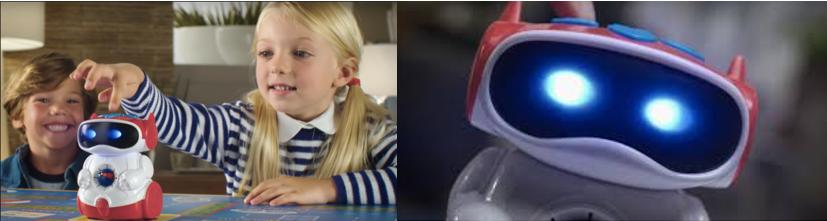Niños utilizando uno de los robots baratos propuestos: el Doc de Clementoni