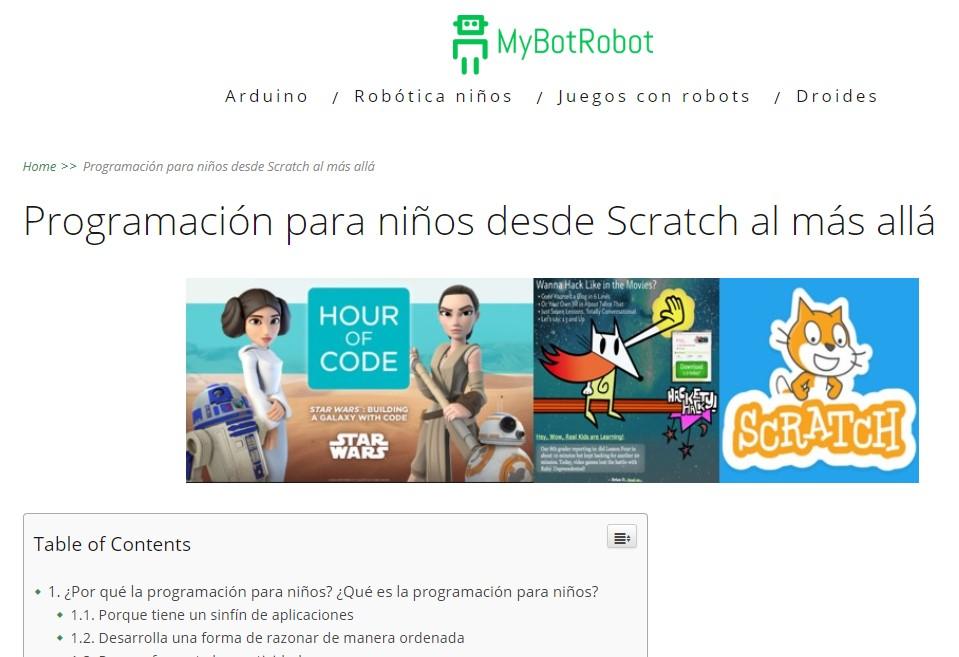MyBotRobot Programación para niños desde Scratch al más allá