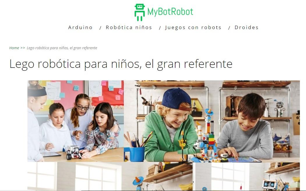 MyBotRobot Lego robotica para niños el gran referente