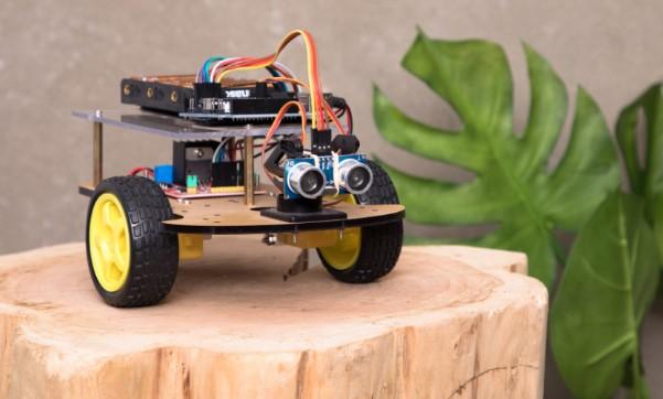 Mascota de la web MyBotRobot con planta verde