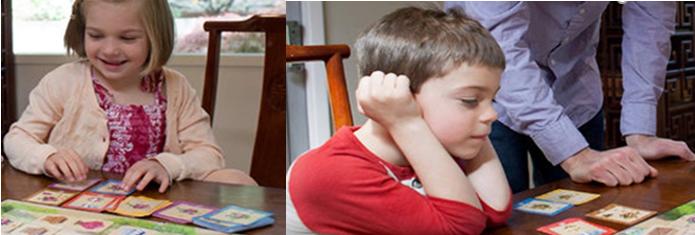 Niños jugando a juegos de robots de tablero para niños
