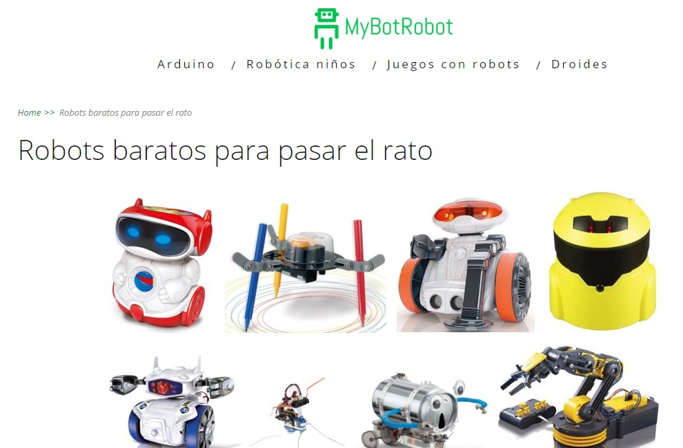 Robots baratos con amplios beneficios educativos