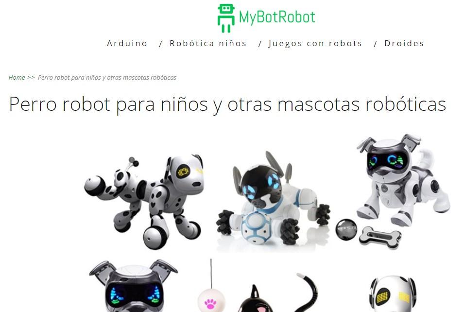 MyBotRobot Perro robot para niños, otras mascotas robóticas y sus beneficios