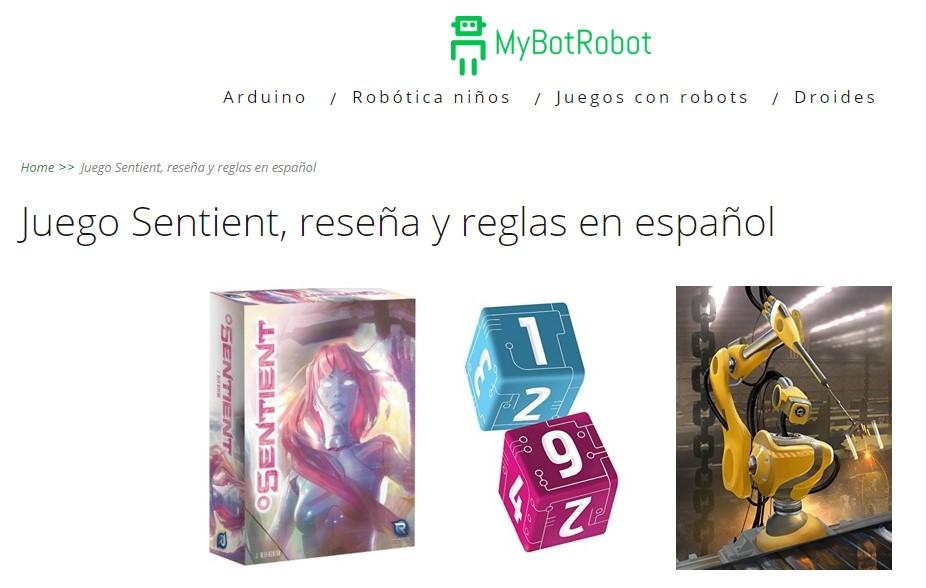 MyBotRobot Juego Sentient reseña y reglas en español