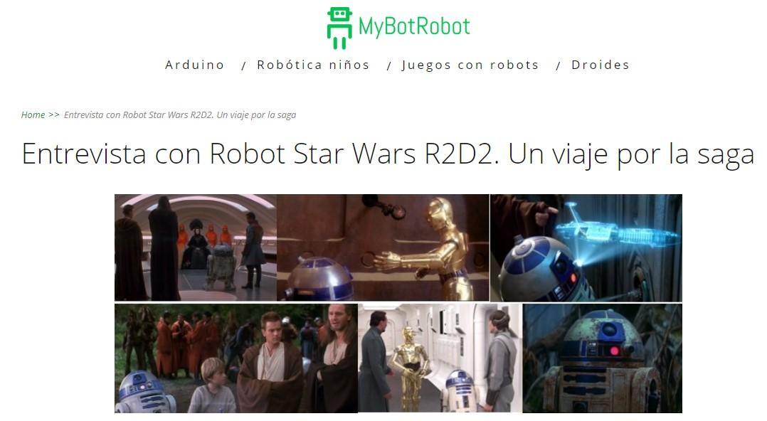 MyBotRobot Entrevista con robot Star Wars R2-D2