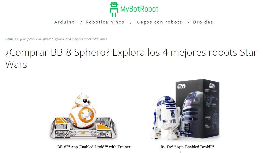 MyBotRobot Comprar BB8 Sphero Explora los 4 mejores robots Star Wars