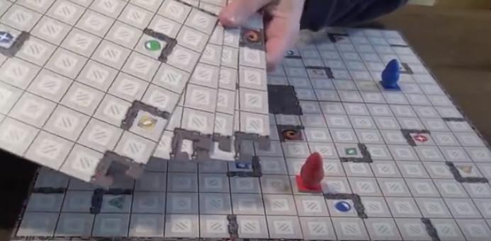 Piezas de las partes del tablero del Ricochet Robots