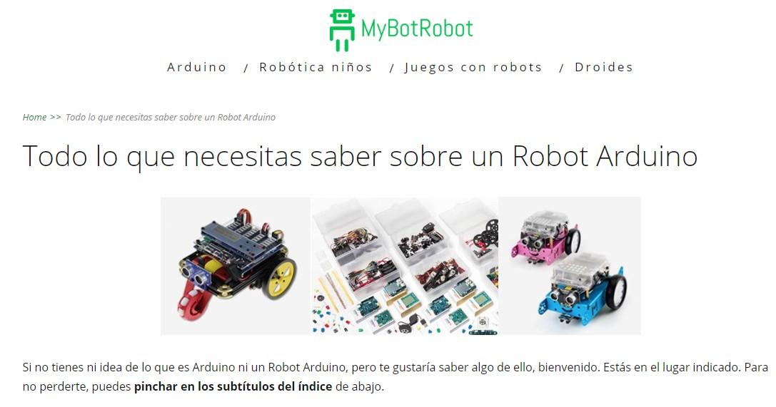 MyBotRobot Todo lo que necesitas saber sobre un Robot Arduino