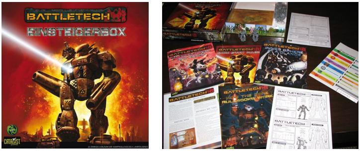 Edición alemana de Battletech y contenido de la caja del 25º aniversario