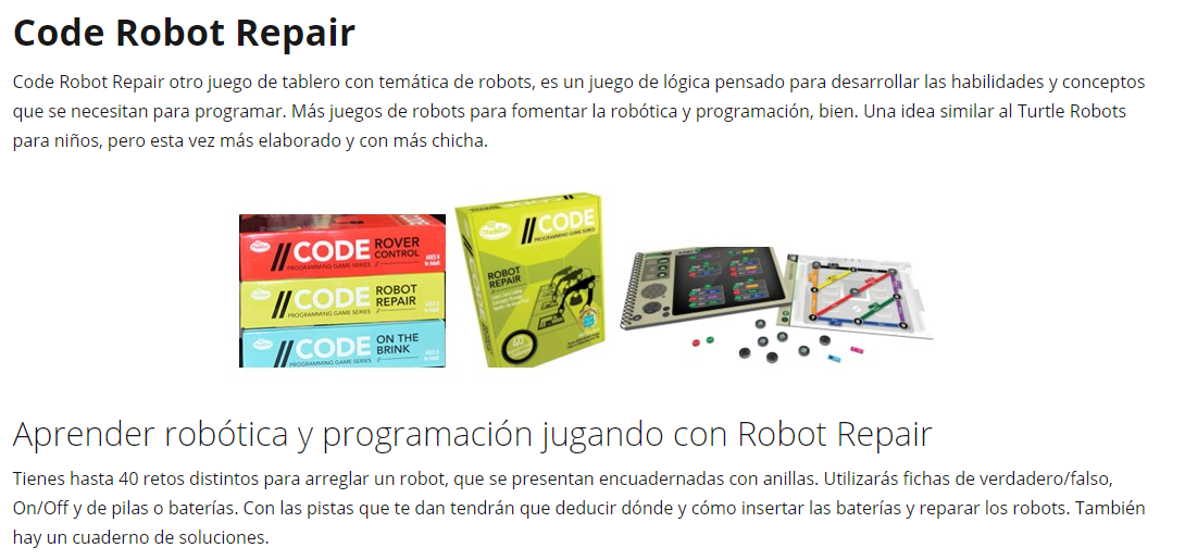Otros juegos de robots de tablero