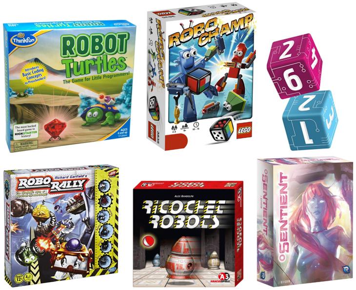 Juegos de robots de tablero para pequeños y mayores