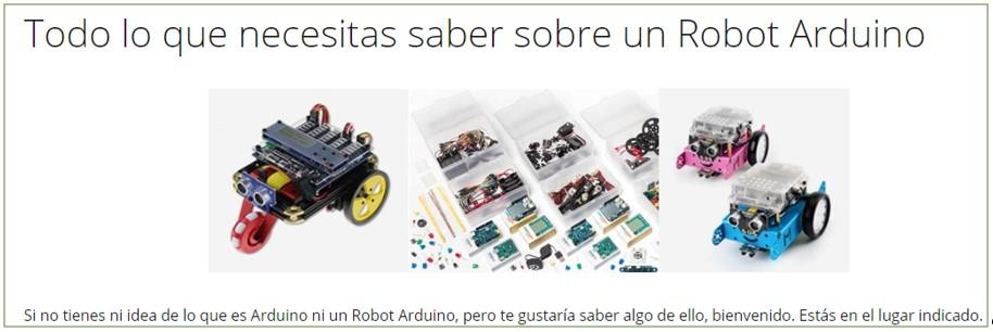 Imagen de la categoría de esta web sobre los robots Arduino