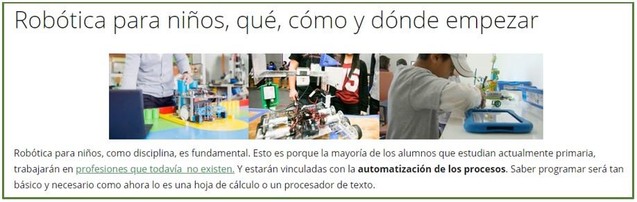 Imagen de la categoría acerca de robótica para jóvenes y niños de esta web