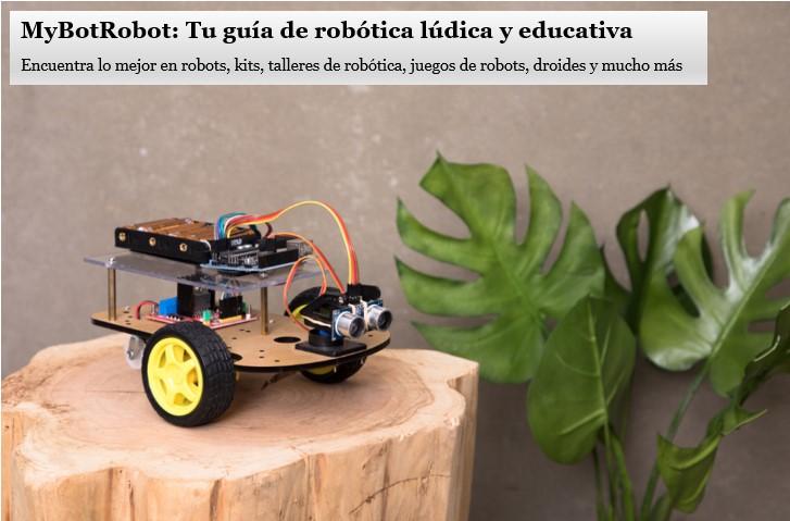Imagen principal de la web MyBotRobot, guía de robótica lúdica y educativa. Robótica para todos