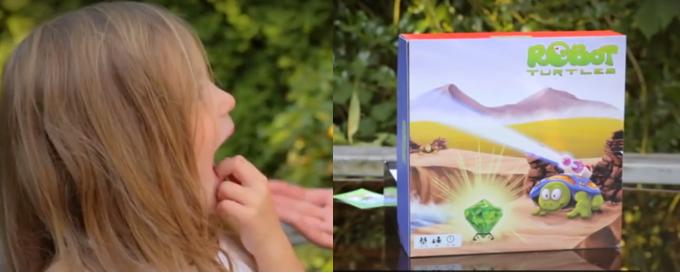 Imágenes del vídeo del creador del juego Dan Saphiro para el crowfunding del juego Robot Turtles