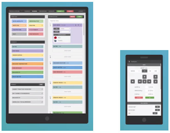 Aplicación FarmBot kit para tablet y smartphone