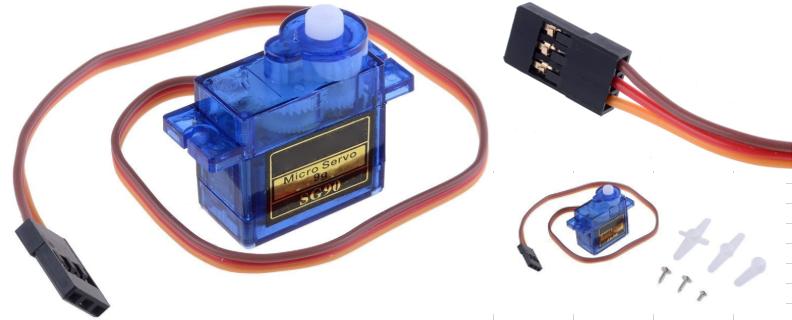 Servomotor analógico detalle y piezas