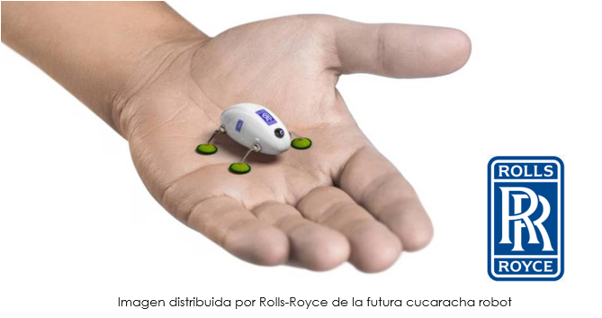 Prototipo de cucaracha robot de Rolls-Royce