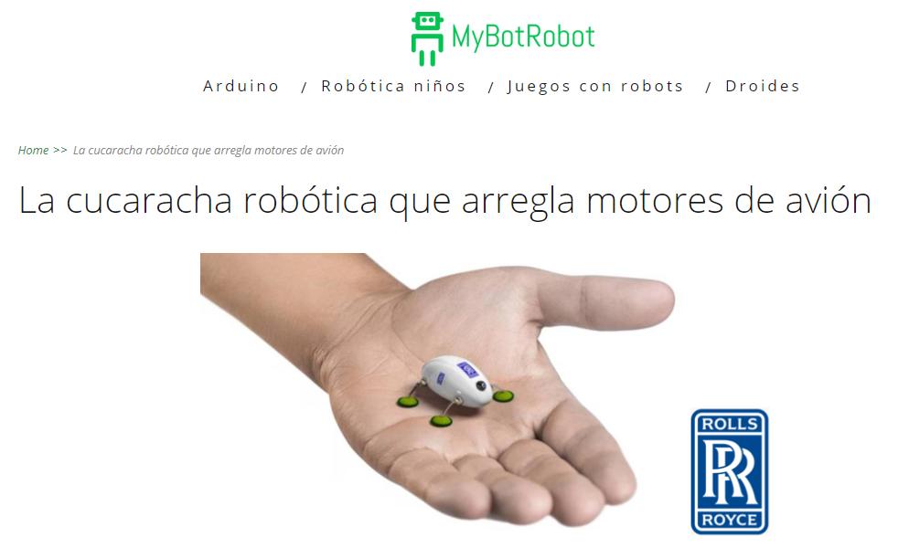 Cucaracha Robótica Rolls Royce para arreglar motores