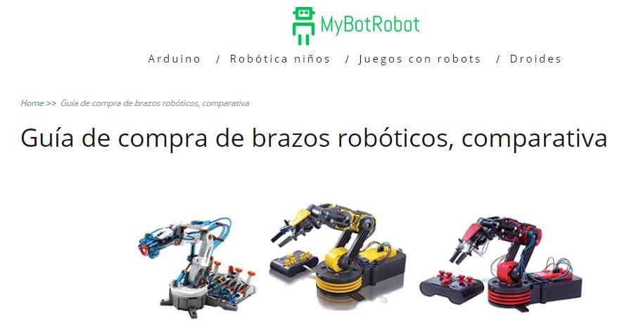 Guía de compra de brazos robóticos, comparativa de MyBotRobot