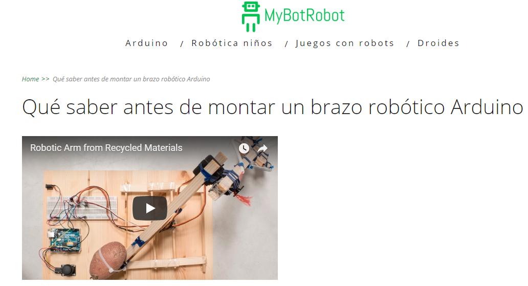 Que saber antes de montar un brazo robótico arduino