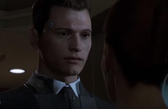 Connor de Detroit become human, juego de robots para PS