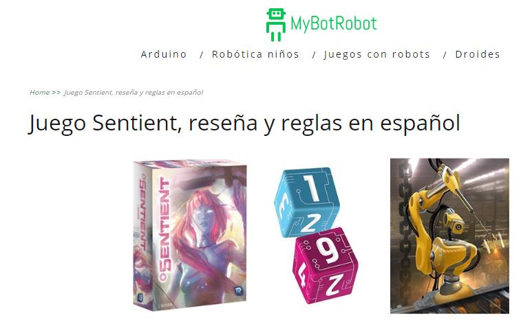 Juego Sentient en mybotrobot