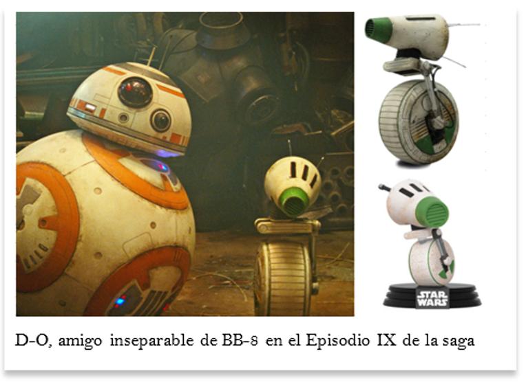 Robot Star Wars de nombre D-O amigo de BB-8 en episodio 9