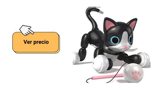 Ver datos sobre mascota robótica Kitty el gato de Zoomer
