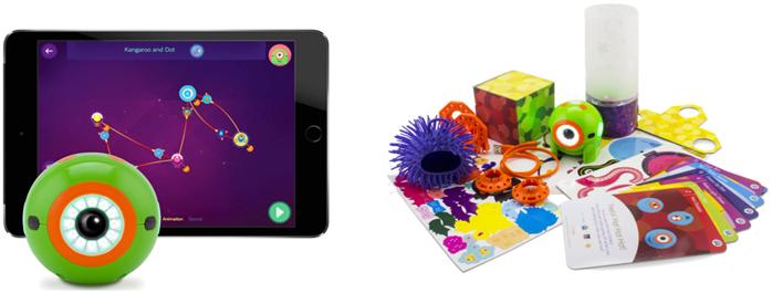 formas de utilizar y piezas del kit de creatividad para dot de wonder workshop